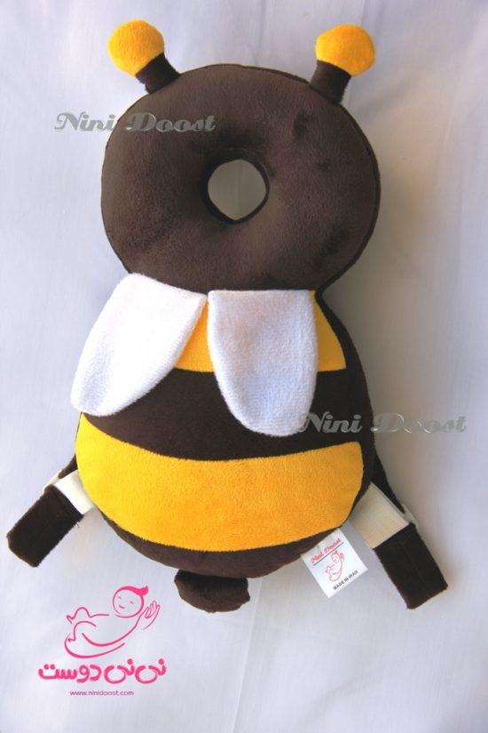 محافظ ایمنی سر کودک مدل زنبور عسل قهوه ای زرد