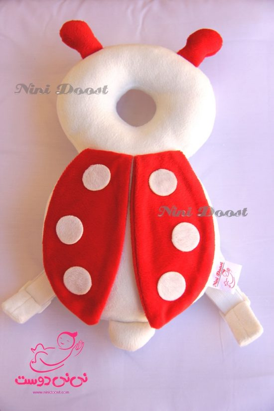 محافظ ایمنی سر کودک مدل کفش دوزک قرمز