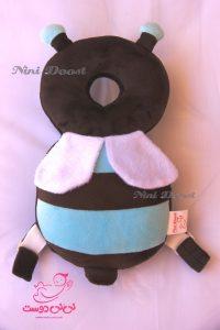 محافظ ایمنی سر کودک مدل زنبور عسل قهوه ای آبی
