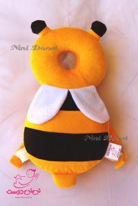 محافظ ایمنی سر کودک مدل زنبور عسل زرد قهوه ای