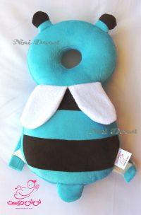 محافظ ایمنی سر کودک مدل زنبور عسل آبی قهوه ای